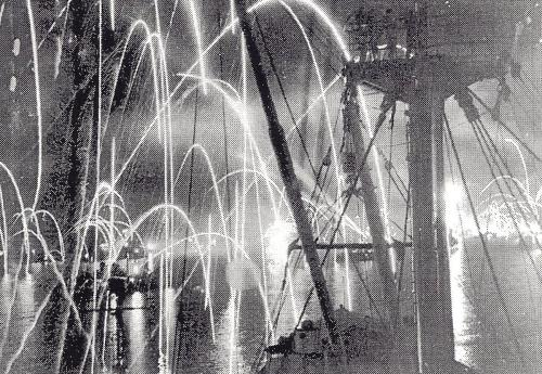 14 August 1945 - Celebration in Pacific when Japanese surrender