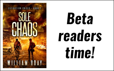 Sole Chaos is off to the beta readers!