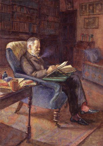 George Darwin (water colour, Gwen Darwin, 1908)