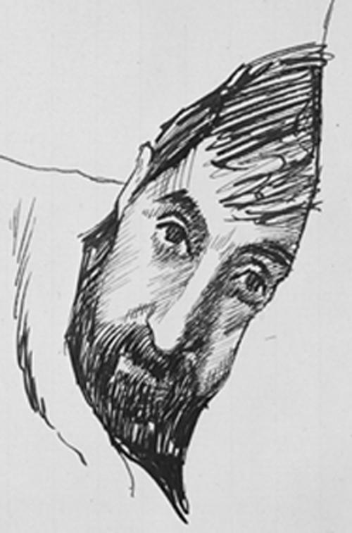 Jacques, dying (pencil, Gwen Raverat, 1925)