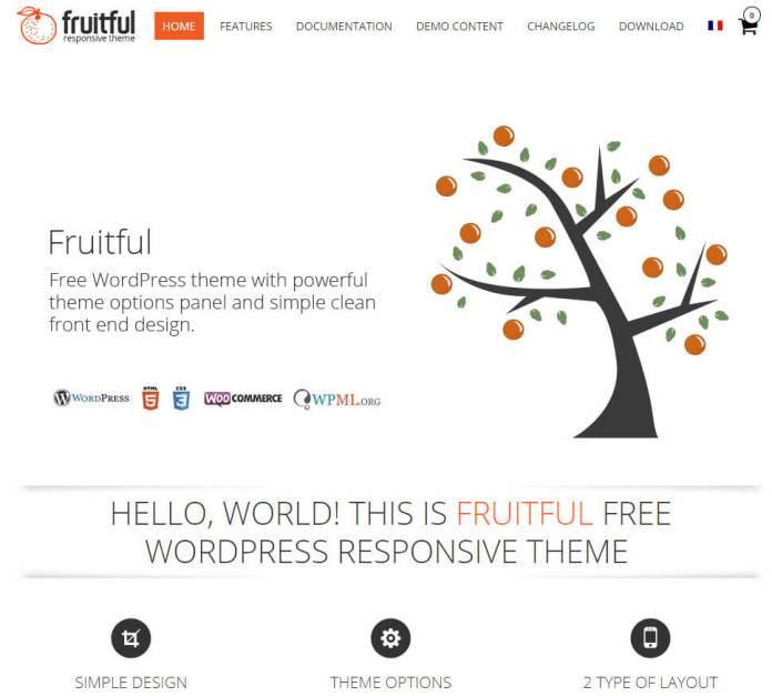 free ecommerce wordpress themes Fruitful