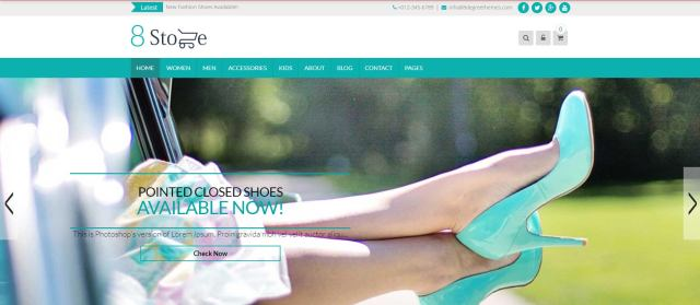 free ecommerce wordpress themes eightstore