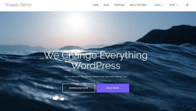 free landing page wordpress theme shapely