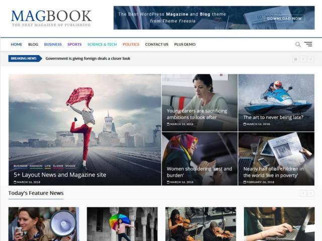 free wordpress blog theme magbook