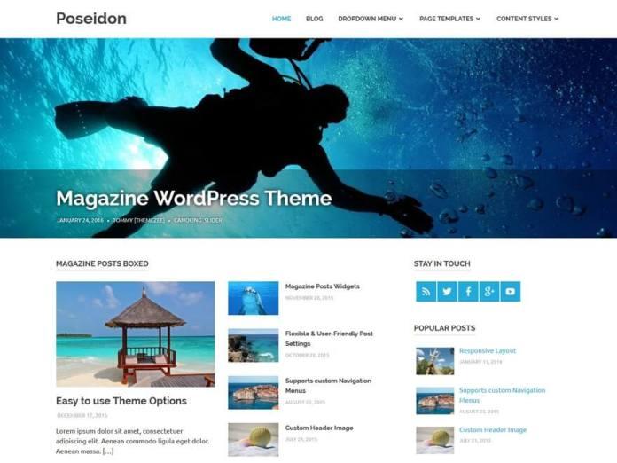 free wordpress blog theme poseidon
