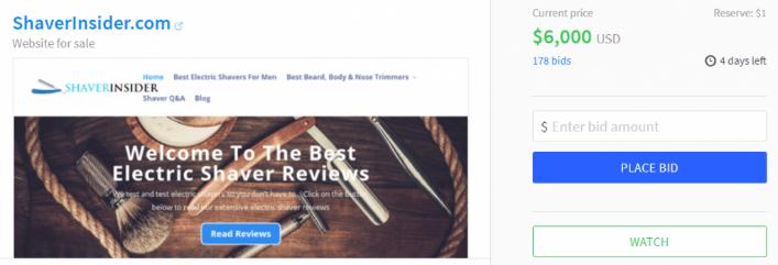 Shaverinsider-$6000-niche-site-authority-site-williamreview.com