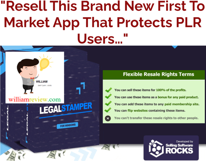 Legal Stamper For PLR Users Review