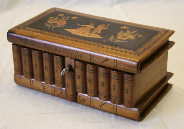 A Victorian Olive Wood Puzzle Box Williams Antiques