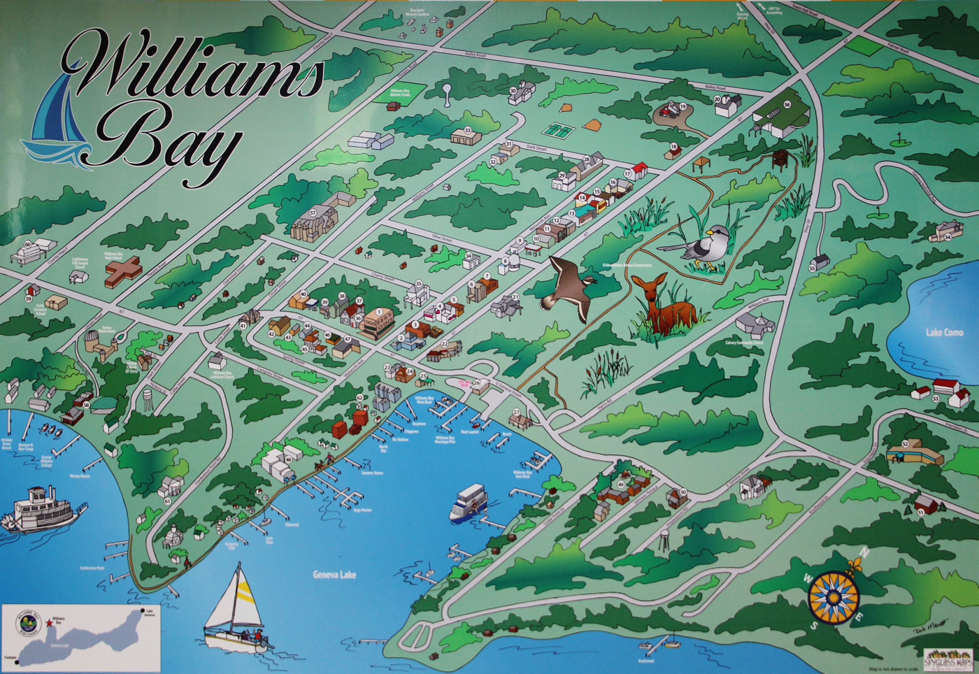 Williams Bay Map