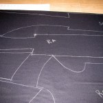 Chalked out pattern pieces