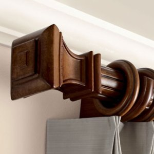 Wood Curtain Rods Overview - Williams Drapery- Kirsch Hardware and ...