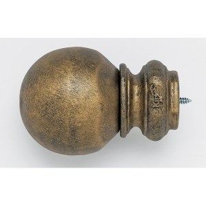 Pedestal Ball Finial - Iron Gold