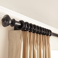 Wooden Curtain Rods with Chaucer Finials