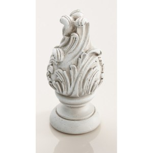 "Wave Finial 2""- Old World White"