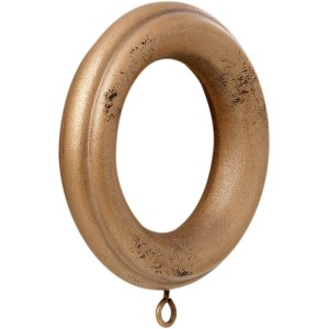 "1 3/8"" Wood Ring  - Aged Gold"