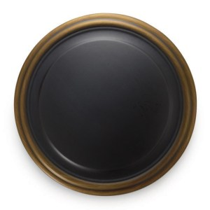 "3"" Contemporary Round Medallion Holdback - Venetian Bronze"