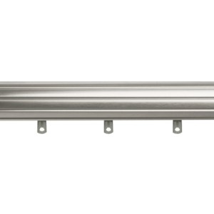 "1-3/8"" Rod - 120""-180"" Fluted with Slides - Satin Nickel"