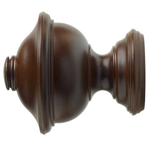 "1-3/8"" Chaucer Finial - Coffee"