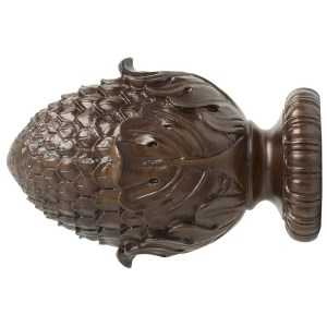"1-3/8"" Oakleaf Finial - Coffee"