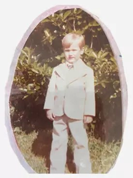 A young Michael Williams (2.5 years old)