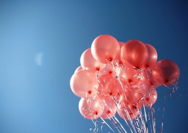Image of balloons to celebrate National Senior Citizens Day on August 21.