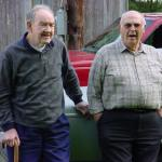 Image of two older men for an article about how Parkinson's affects mobility and what you should know about getting around.