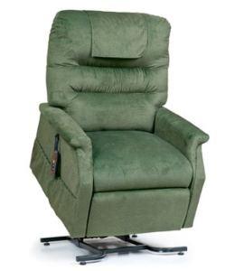 a green recliner