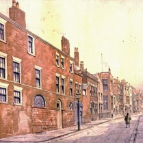 Mason Street in the 1880s. Williamson's house is near the end on the right. Courtesy Liverpool City Libraries