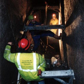 Work to install the new staircase in the early 2000s.