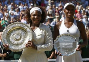 2009 Wimbledon: Serena saved match point in the semifinals and then beat Venus to capture the title.