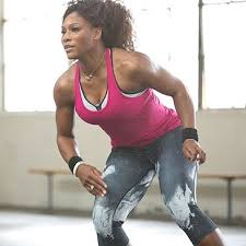SERENA WORKING OUT