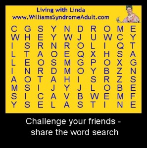 Williams Syndrome Word Search