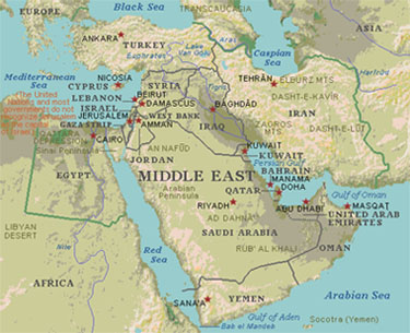 William Stickevers - Map of the Middle East