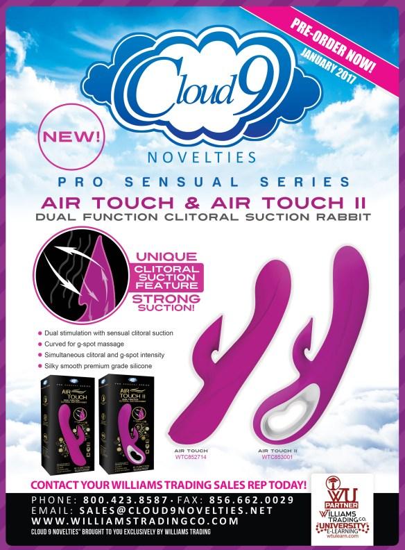 Cloud 9 Novelties Air Touch Air Touch II Clitoral Suction Rabbit