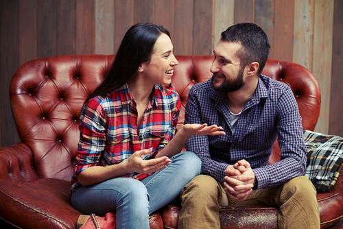 couple talking about sex