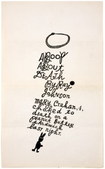 Ray Johnson A Book About Death pg 1, 1963