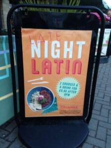 New late night menu at Las Iguanas Cheshire Oaks