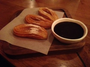 Anyone for Churros with the most amazing chocolate sauce
