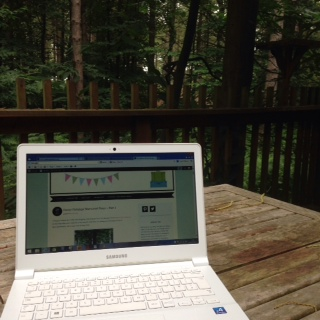 Not a bad view when you are blogging