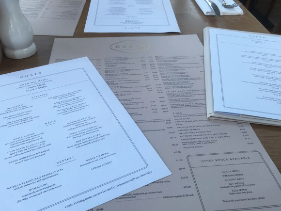 The Menu at Gusto