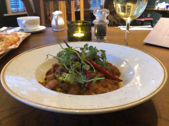 Curry dish at The Stretton Fox
