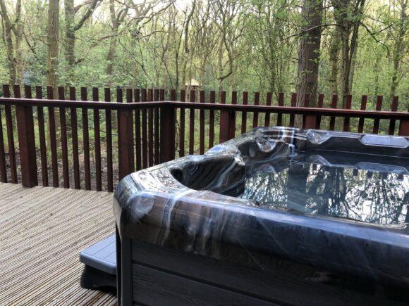Hot tub at Forest Holidays Delamere