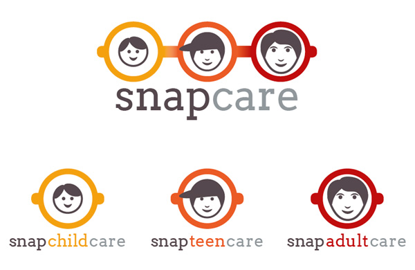 Logos designed for Snap Childcare Ltd - Adobe InDesign