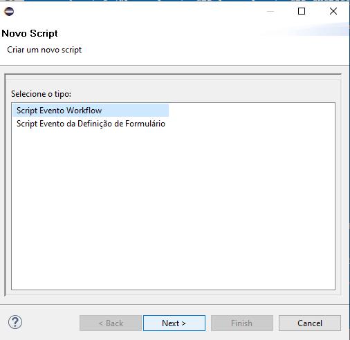 Criar script de evento workflow.