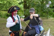 A pirate who can play the Entertainer on the saw!