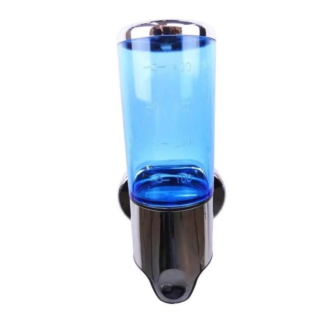 Zeep dispenser blauw met chroom 400 ml