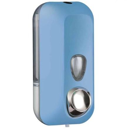 Marplast zeepdispenser A71401AZ - Professionele kwaliteit - Blauw met Transparant - 550 ml - Geschikt voor openbare ruimten