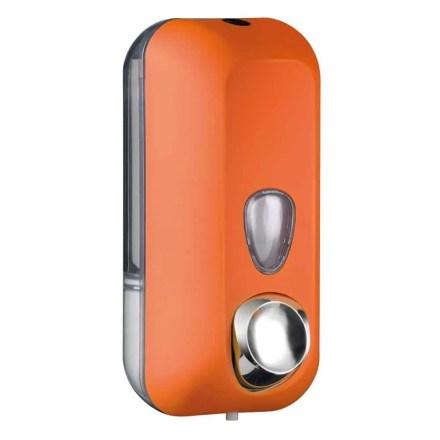 Marplast zeepdispenser A71401AR - Professionele kwaliteit - Oranje met Transparant - 550 ml - Geschikt voor openbare ruimten