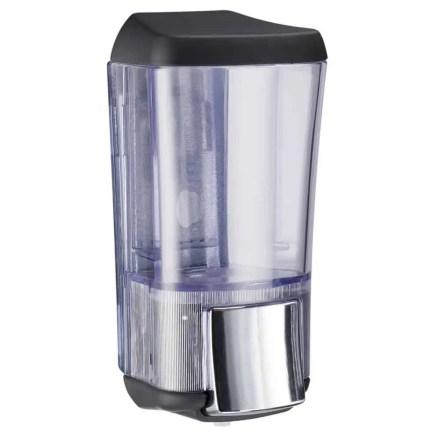 Marplast zeepdispenser A76424NE - Professionele kwaliteit - Zwart met Transparant - 170 ml - Geschikt voor openbare ruimten