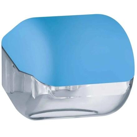 Marplast toiletpapier houder A61900AZ - Blauw met transparant - geschikt voor traditionele Rollen toiletpapier